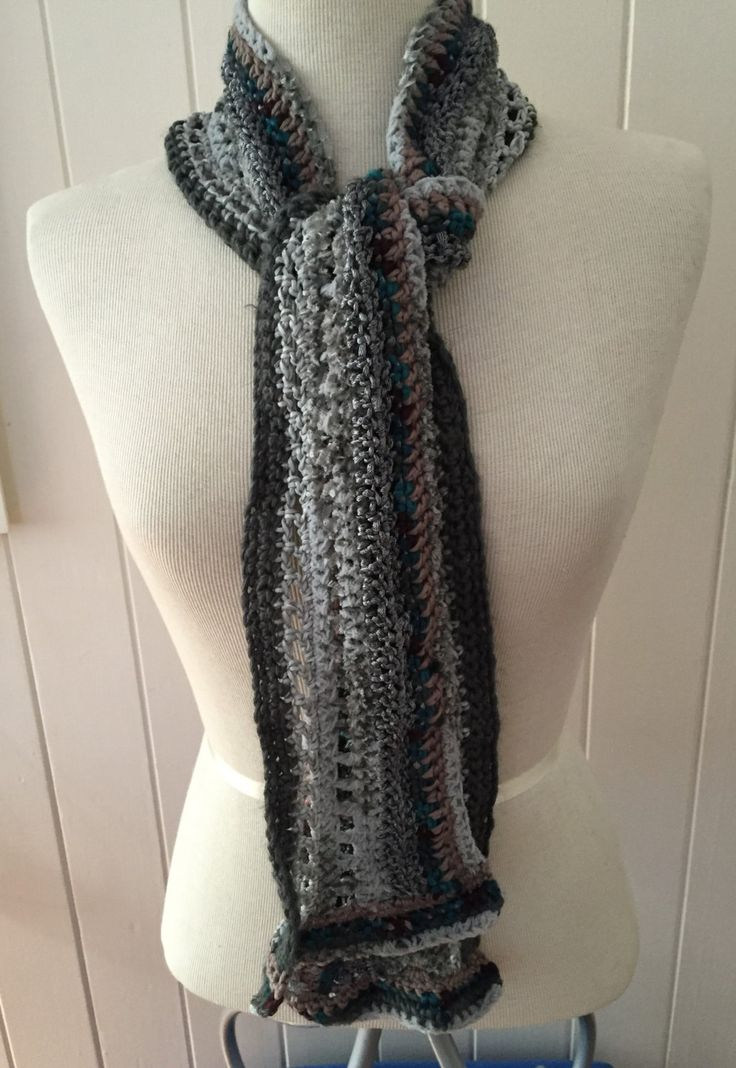 50 shades of grey scarf number 2 by GreenfishBluefish on Etsy