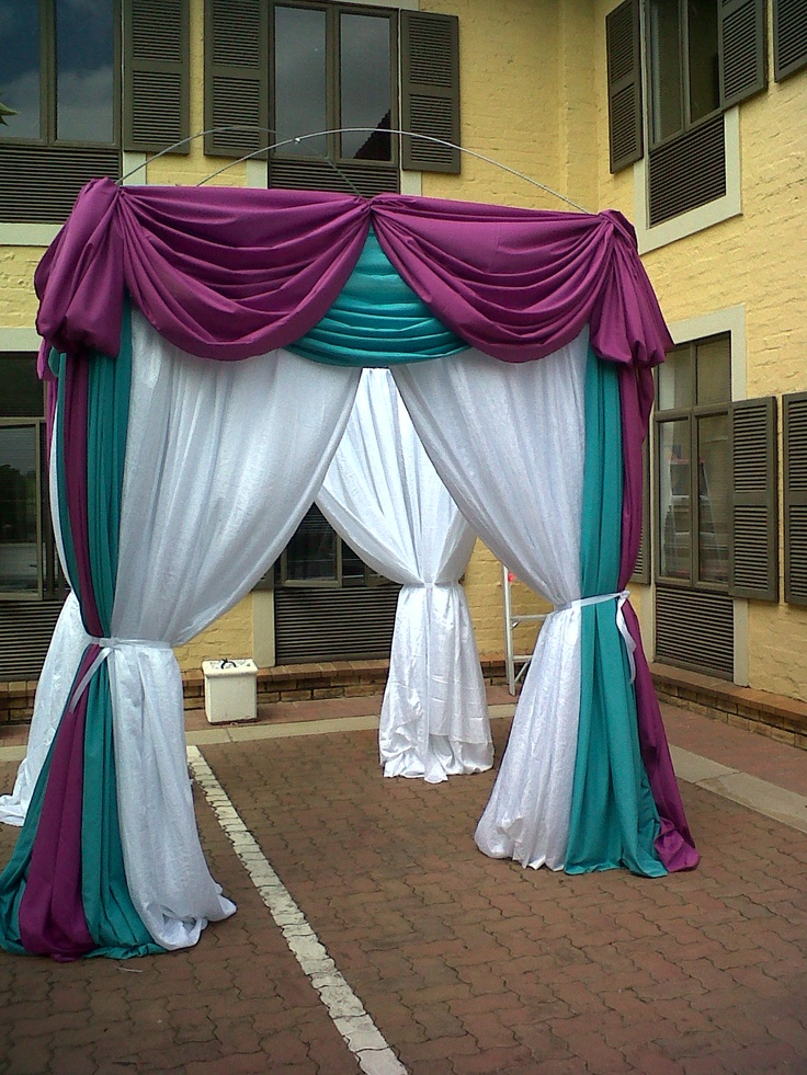 Draping done by the wedding management class at the sa school of weddings.stunning!