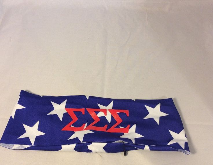Brothers and Sisters' Greek Store - Sigma Sigma Sigma Tri-Sigma USA Themed Head Band, $8.99 (http://www.brothersandsistersgreekstore.com/sigma-sigma-sigma-tri-sigma-usa-themed-head-band/)
