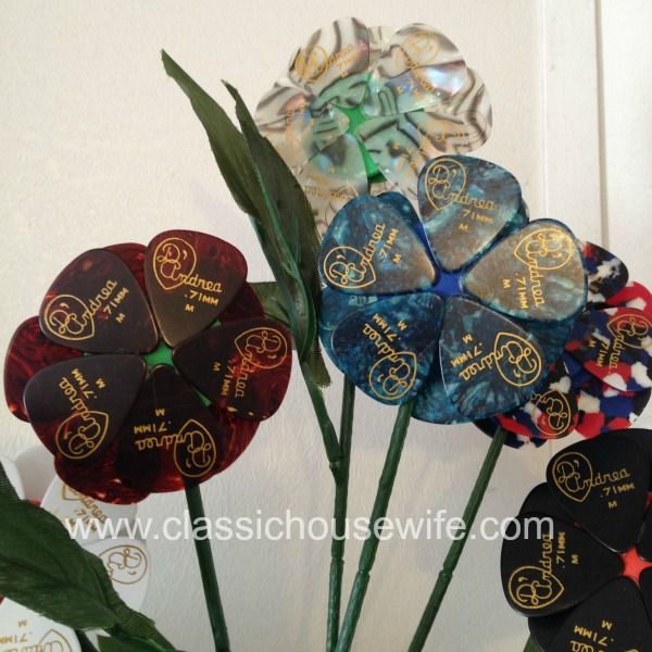 Guitar Pick Flowers