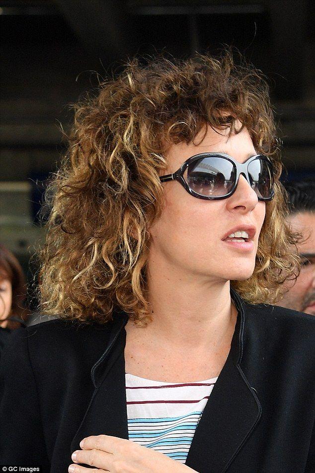 Stunner: Italian actress Valeria Golino, of Rain Man fame, showed off her naturally wild curled hair