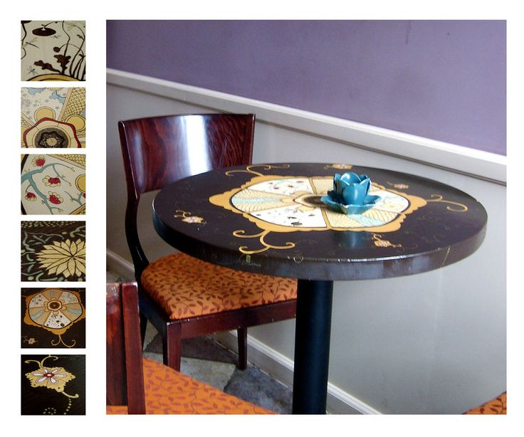 stół pomalowany dla Czekoladowni w Gdańsku. ///table 1 by karolina-g.deviantart.com on @deviantART