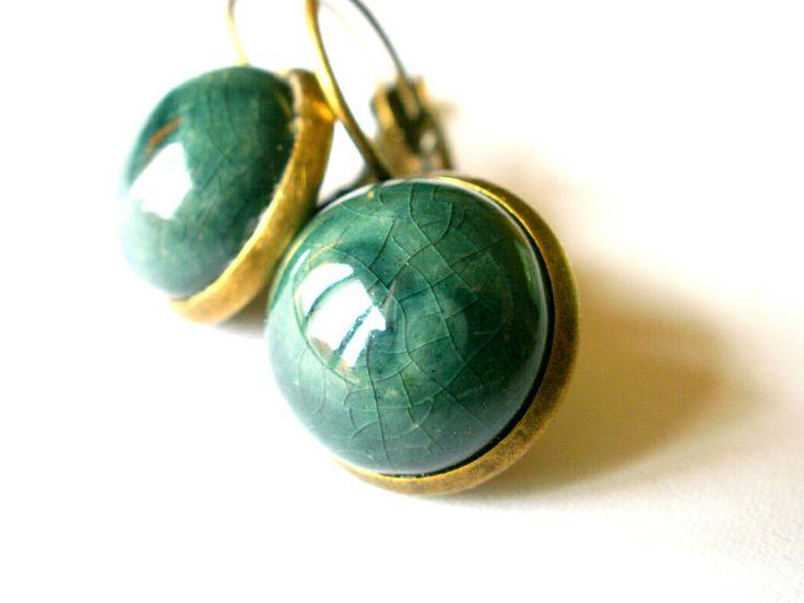 Glazed ceramics earring