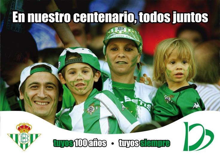 2007: El año del Centenario del Real Betis Balompié. http://www.lacaseta.com/100-aniversario-real-betis-balompie/ #Betis #ideas #fútbol #creatividad #design #diseno