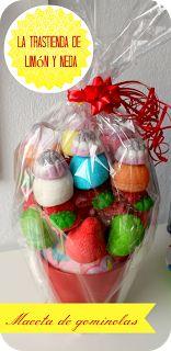 tutorial regalo maceta de gominolas  diy candy present