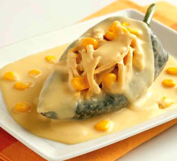 chiles en salsa de elote