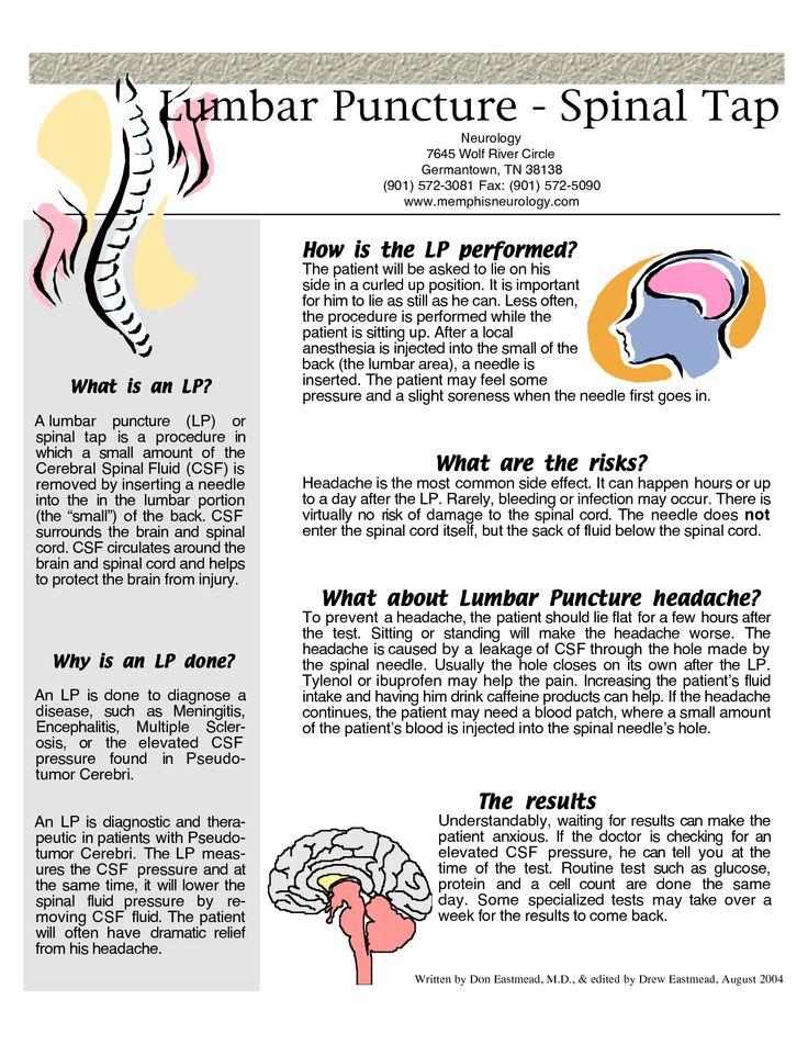 Spinal Tap Procedure | Lumbar Puncture - Spinal Tap                                                                                                                                                                                 More