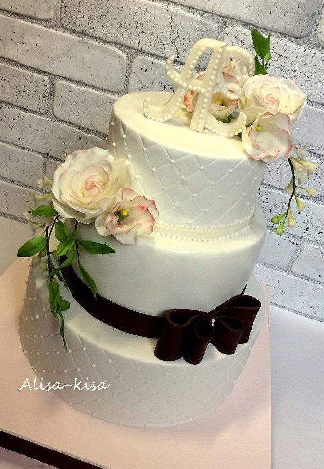 Свадебные торты.   257 фотографий