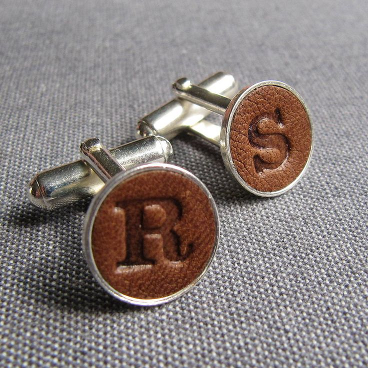 personalised leather cufflinks by gracie collins | notonthehighstreet.com