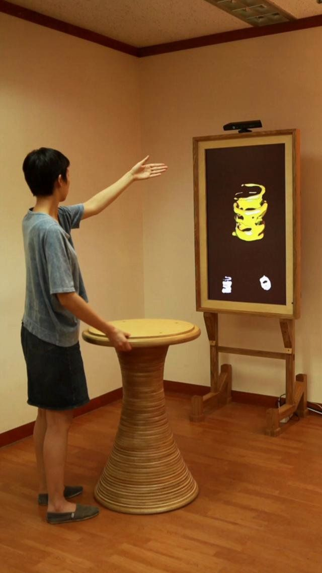 TURN the Kinected Pottery in action. mov @ 540 x 960 www.everyware.kr
