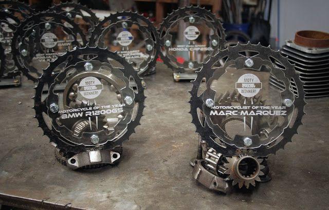Custom motorcycled sprocket trophies :)