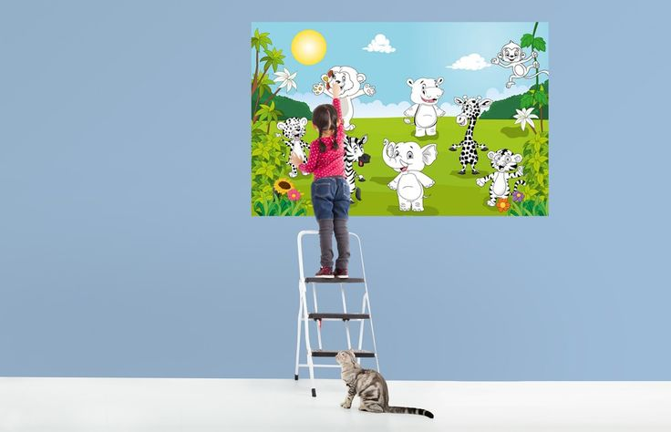Giant Art XXL Poster Happy Animals – Color It Yourself Giant Art® Posters Giant Art® XXL-Poster Landscape