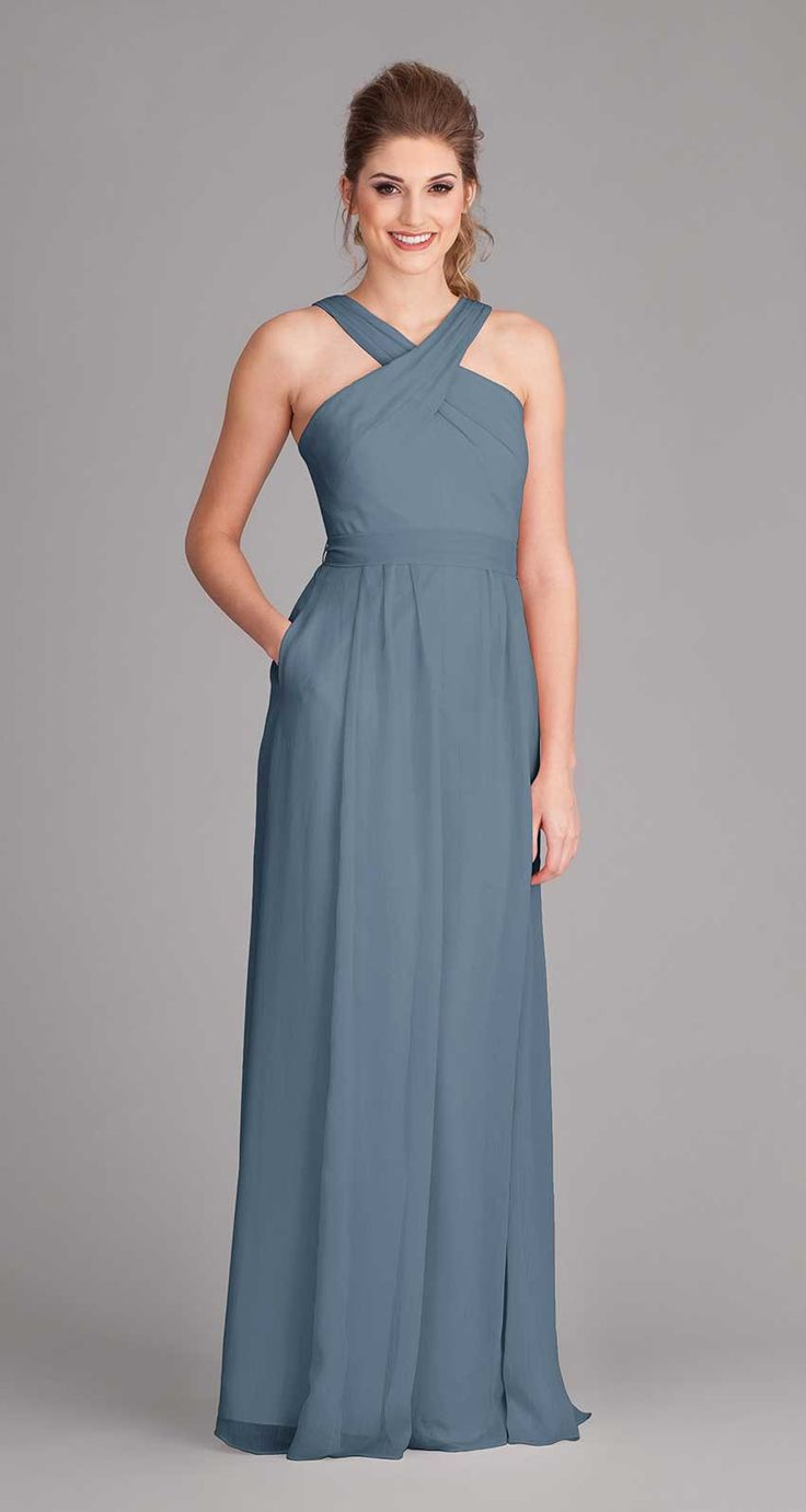 Style your girls in fabulous halter bridesmaid dresses that they will love wearing for your big day. The Kennedy Blue Stella is that dress and will compliment your bridal gown perfectly. The Stella is
