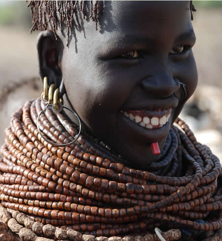 Africa | The beautiful smile of a Africa | Nyangatom (aka Bumi) Woman, Lower Omo River, Ethiopia | ©Sunny Land