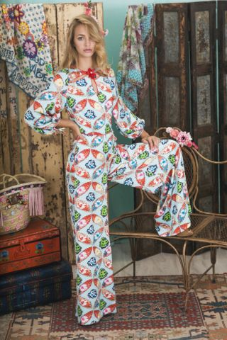 Lookbook Summer of Love Highly Preppy SS16 // Jumpsuit maxi colorido