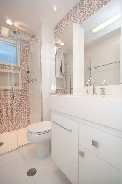 banheirow pequenos com revestimeno imitndo pastinhas - Pesquisa Google
