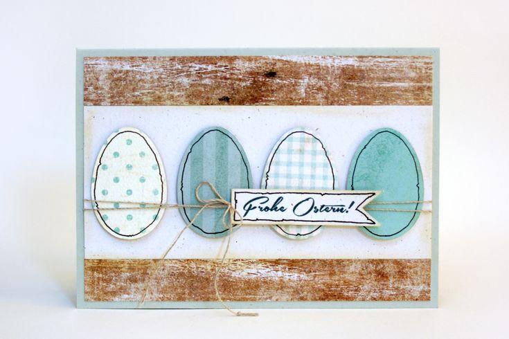Guten Morgen! Hier noch schnell eine Eierkarte nach der Vorgabe von Nadine . Das mit den schwarzen Streifen war in der Vorgabe enthalten und...