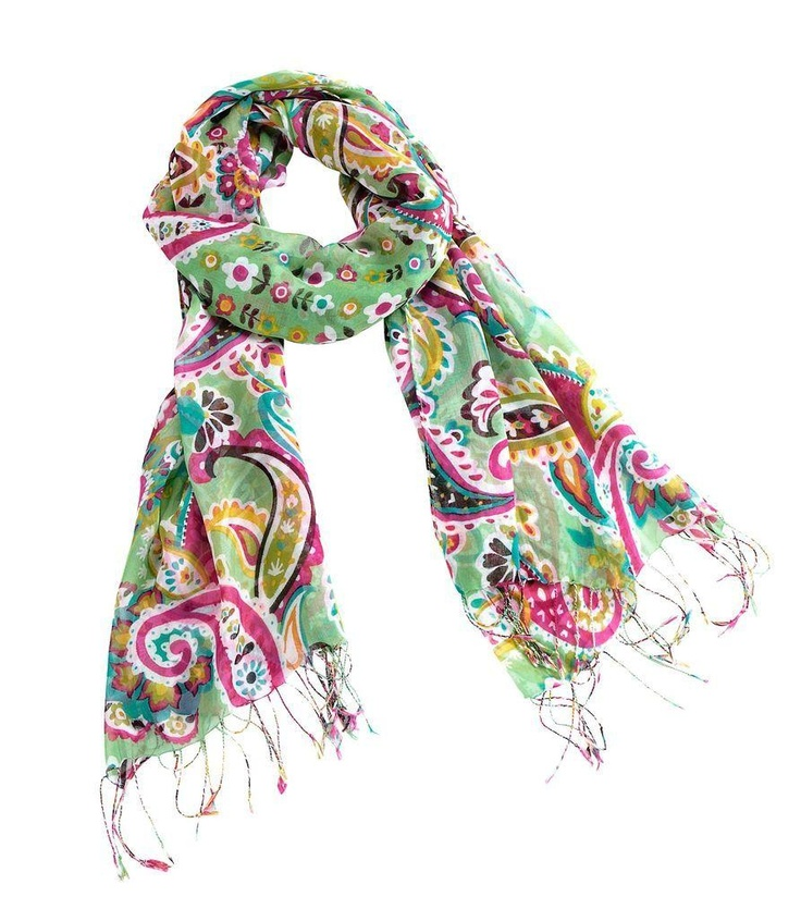 Perfect for the season, this pretty, lightweight scarf features your favorite new Vera Bradley color with details from its coordinating lining. Fringe embellishment on the ends makes this...