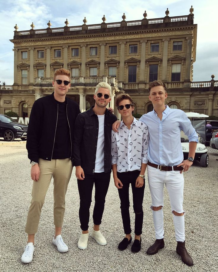 Josh Pieters, Marcus Butler, Joe Sugg and Caspar Lee
