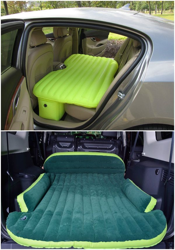 10 Camping Tips and Gadgets You'll Love This Summer-Car Travel Inflatable Mattress   #Camping, #Hacks