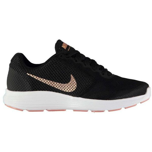 Nike Revolution 3 Ladies Trainers ($61) ❤ liked on Polyvore featuring shoes, sneakers, nike trainers, nike, nike sneakers, nike footwear and nike shoes