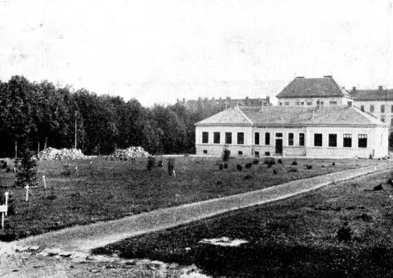 A volt katonai főreáliskola sporttere (gyakorlótér) 1929-ben , betelepítése idején