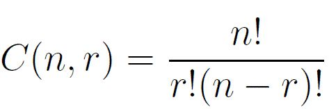Formulas for Combinations and Permutations: Formula for Combinations