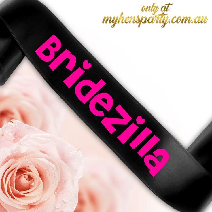 Bridezilla Sash