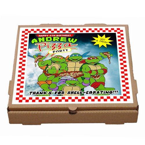 tmnt teenage mutant ninja turtles pizza box label printable