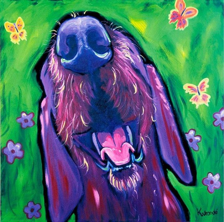 Happy Garden Dog by Kathryn Wronski