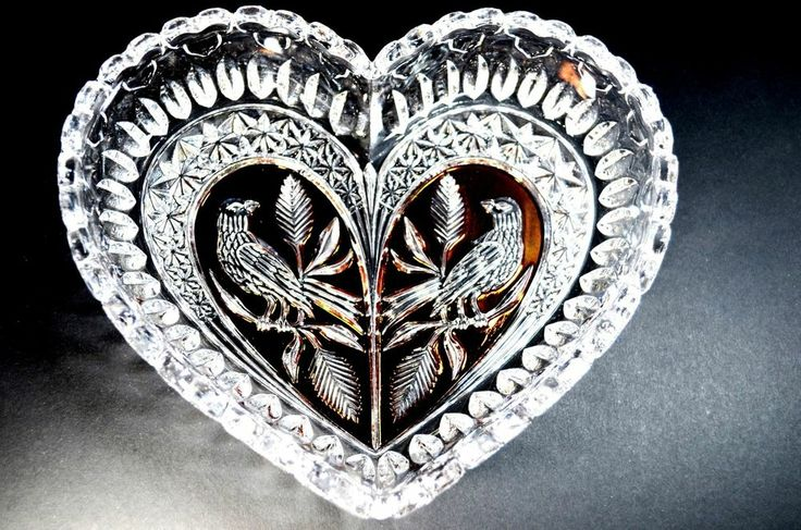 94 best images about byrdes crystal on pinterest set of for Heart shaped jewelry dish