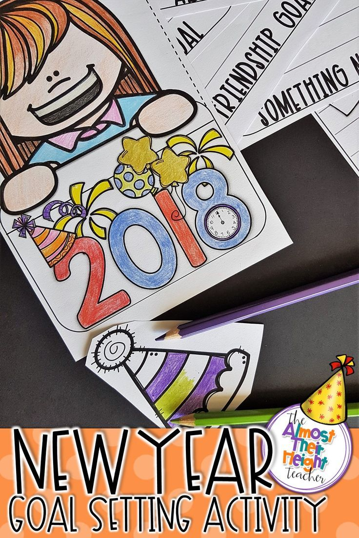 New Years is a great time for our students to stop and reflect on what they want to achieve over the next year.  This 2018 New Years resolution flip book is a great way to do just that.  There are a variety boy/girl covers and pages to choose from to suit different age groups and for goal or goals to be set. #newyear2018 #resolutions #2018 #flipbook #goals #goalsetting