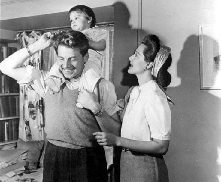 Maria Montez, husband Jean-Pierre Aumont and daughter Tina