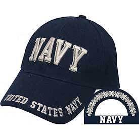 U.S. Navy Letters Baseball Cap - Meach's Military Memorabilia & More