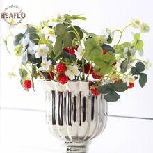 1PC Vivid Fruit Artificial Flower Fake Acrylic Strawberry Handmade DIY Mulberry For Wedding Home Party Decorative(China (Mainland))