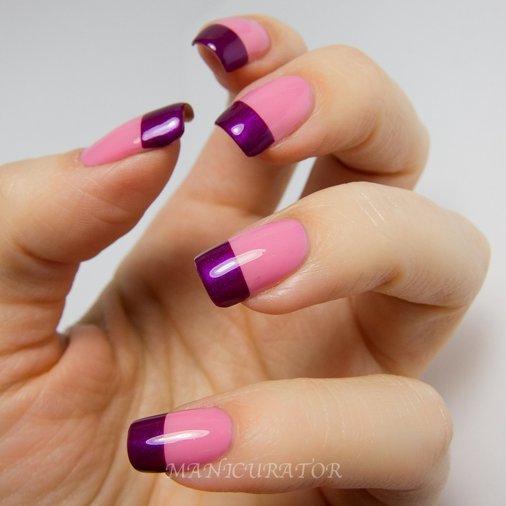 Best 25+ Colored French Nails Ideas On Pinterest