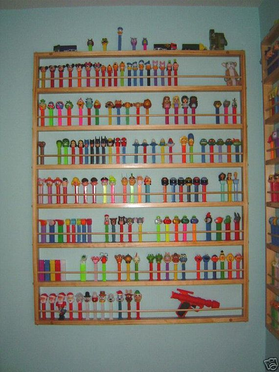 GIANT PEZ DISPLAY shelf Holds 196 dispensers by JTNSProducts, $59.00