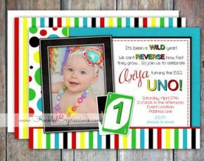 UNO First Birthday Photo Prop Hand Painted by TrendyTotsLetters