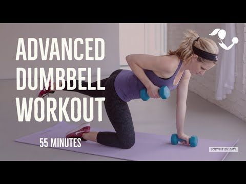 55 minute advanced dumbbell full body workout home