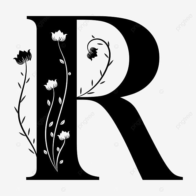 Alphabet Letter R With Ornaments Floral Vintage Letter R Alphabet Letter Png And Vector With Transparent Background For Free Download Lettering Alphabet Vintage Lettering Letter R