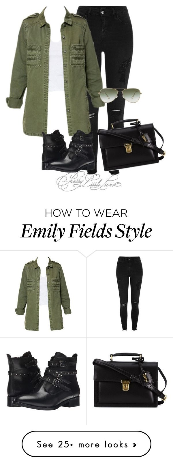 """Emily Fields inspired outfit"" by vane-abreu on Polyvore featuring River Island, Zara, Isabel Marant, Yves Saint Laurent and Bella-Vita"