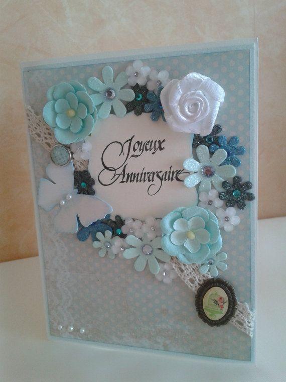 Carte d'anniversaire bleu ciel par Dancingunderarainbow