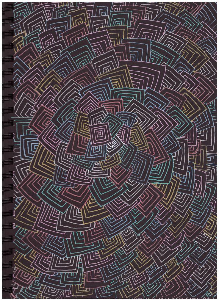 #pattern #in #black #paper #posca