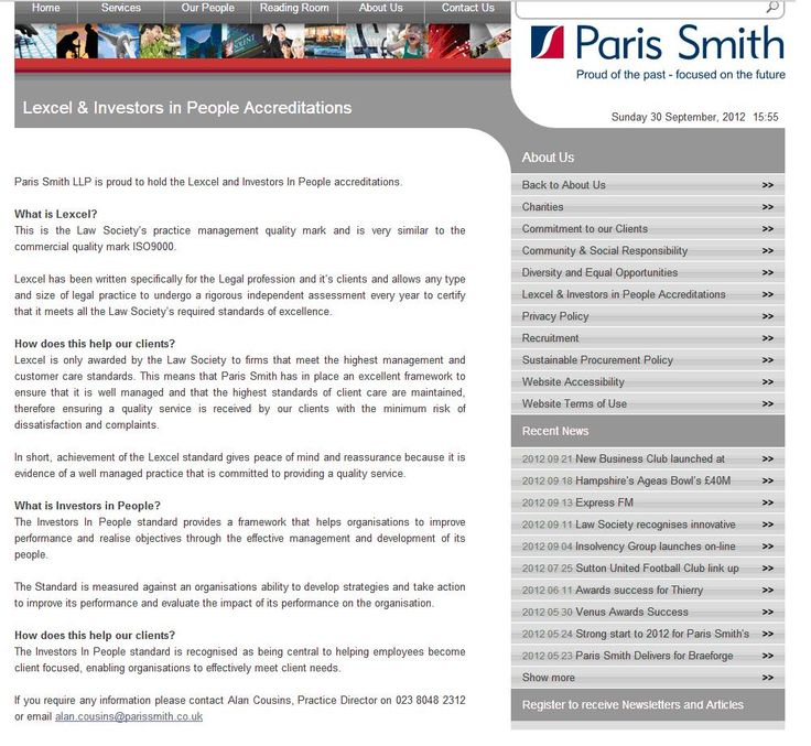 Paris Smith LLP - proud to be an Investor in People