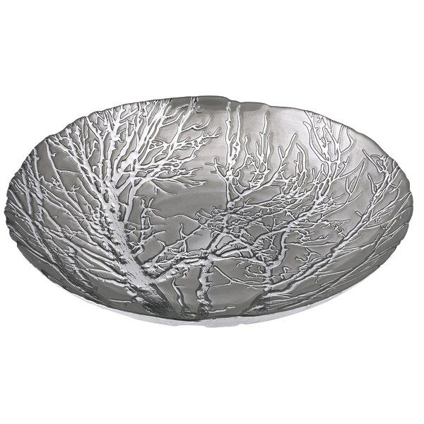 Galipeau Ethereal Tree Round Decorative Bowl Decorative Bowls Glass Charger Branch Decor