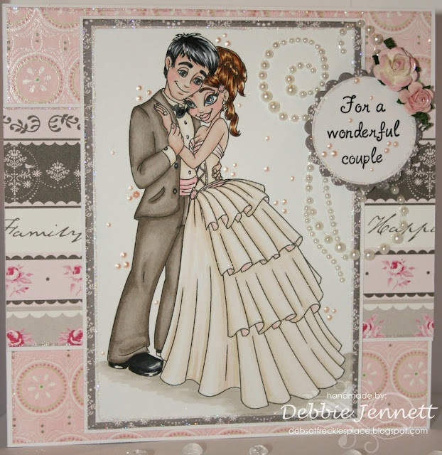 Redonkulous - Wedding Couple coloured with Copic Ciao Flex and ProMarkers Freckles Place