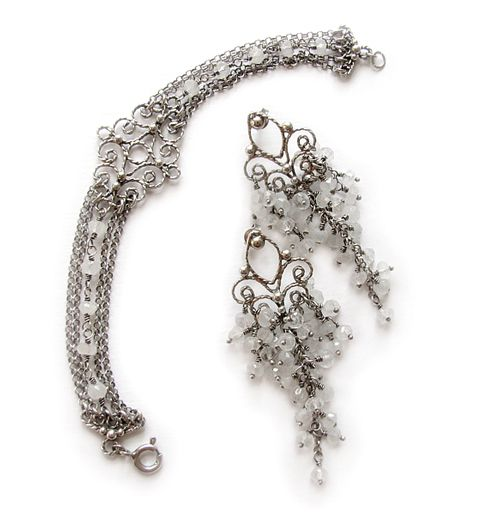 #filigree #silver #earrings #bracelet #handmade #amade #bridal #wedding #jewelry