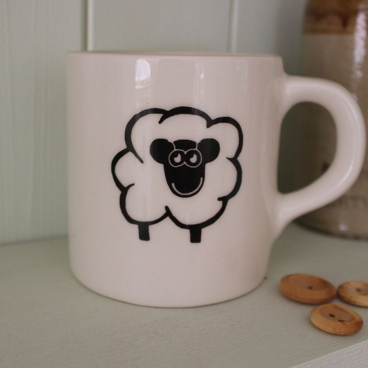 Happy Sheep Mug #gifts #china #mugs #kitchenware