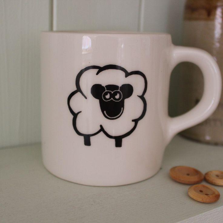 Happy Sheep Mug #gifts #china #mugs #kitchenware