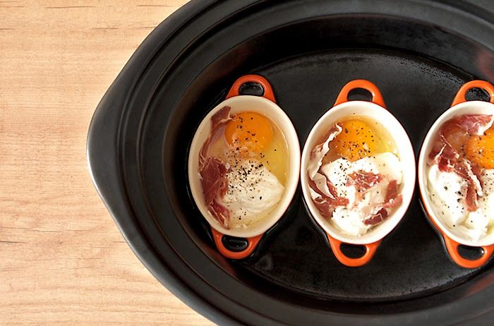 Crockpotting | Receta de huevos en cocotte en Crock Pot | http://www.crockpotting.es